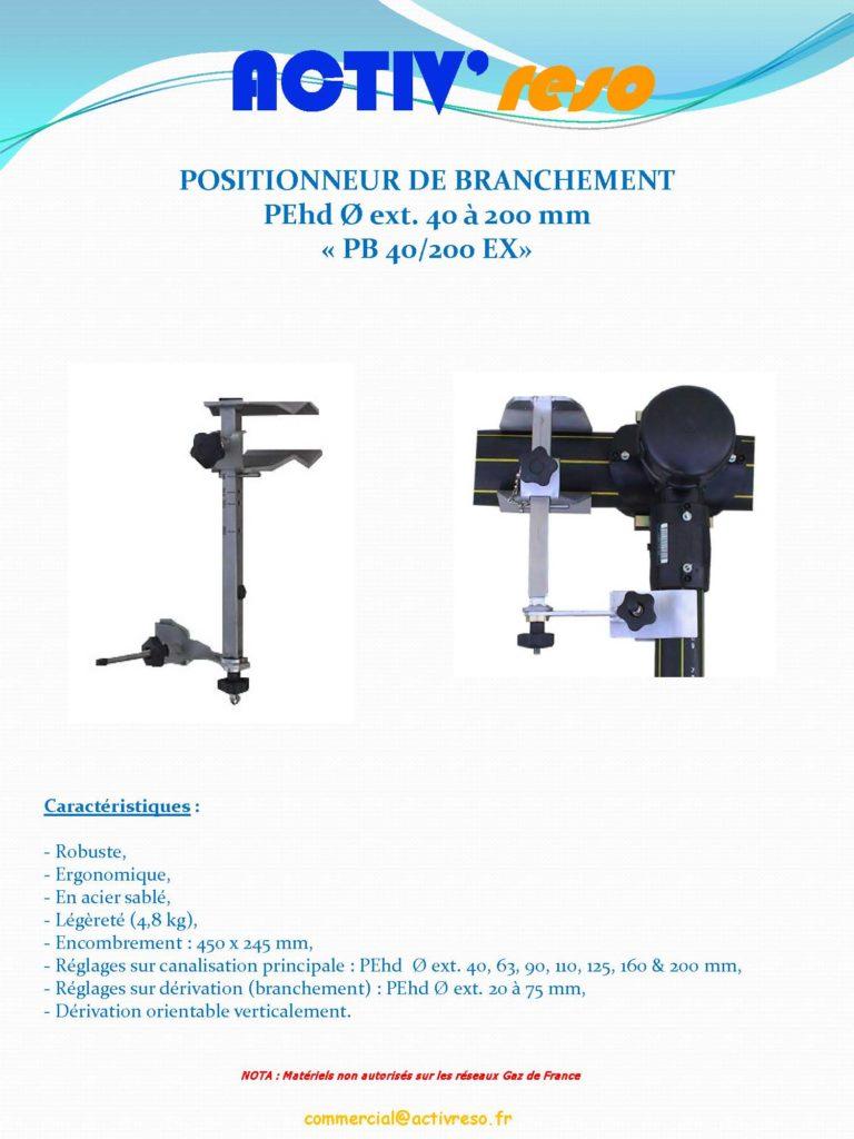 ACTIV'reso - Eau - Positionneur de branchement