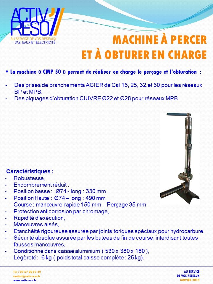 Machine à percer CMP 50 - activreso