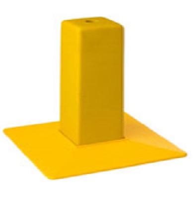 borne de reperage pyramidale jaune