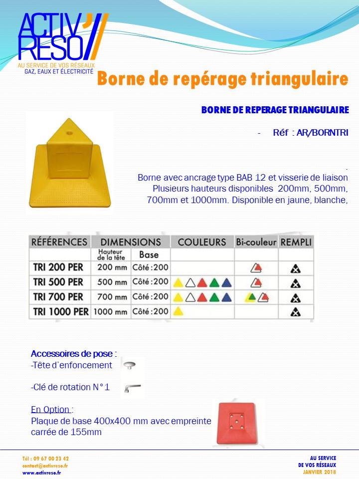 borne de reperage triangulaire - activreso