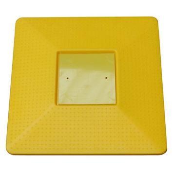 borne de repérage plate jaune
