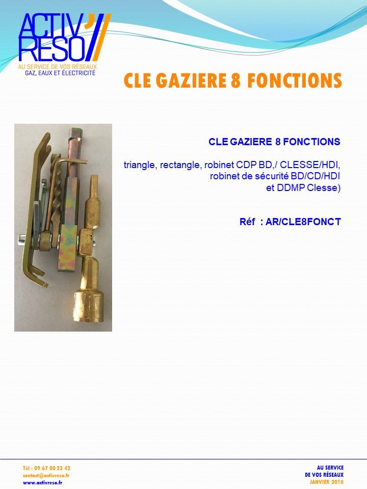 clé gazière 8 fonctions - activreso