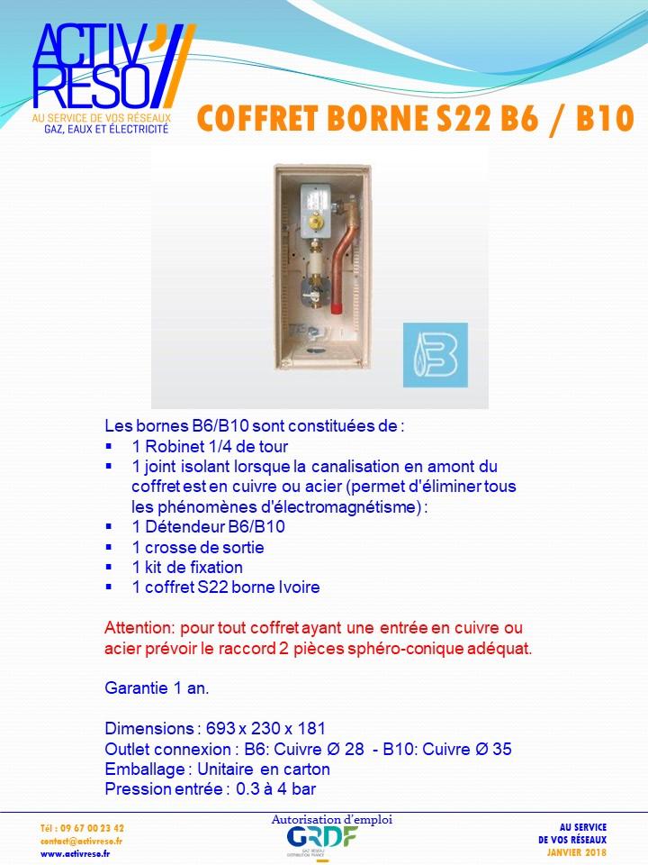 coffret borne S22 B6_B10 - activreso