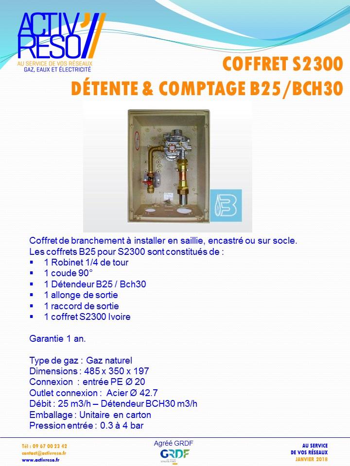 coffret gaz S2300 coupure & détente B25_BCH30 -activreso
