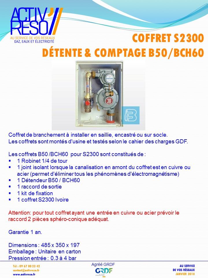 coffret gaz S2300 coupure & détente B50_BCH60 -activreso