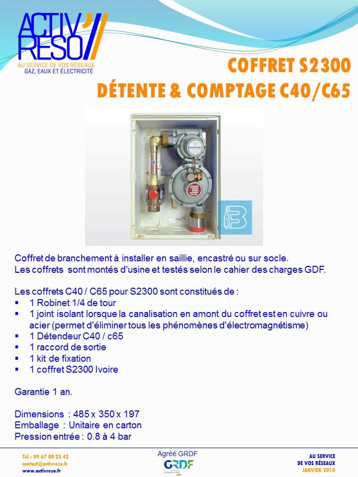 coffret gaz S2300 coupure & détente C40_C65 -activreso