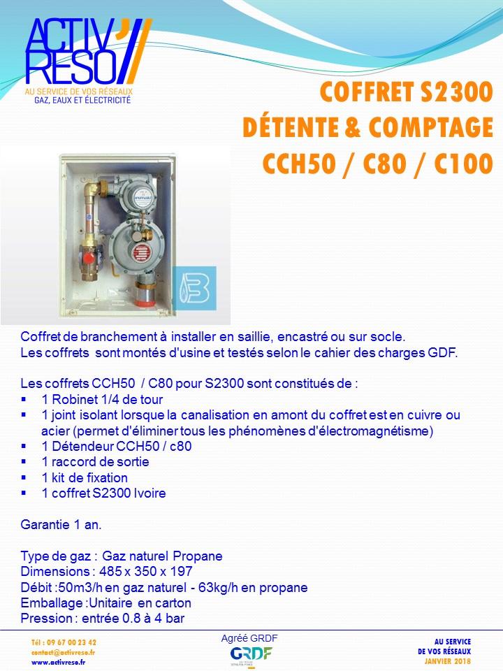 coffret gaz S2300 coupure & détente CCH50_C80-100 -activreso