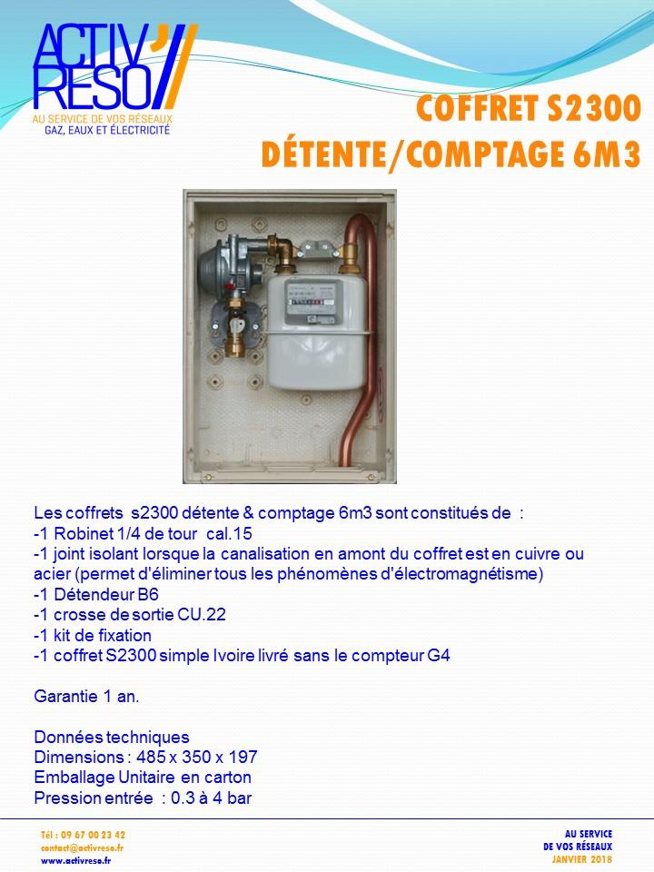 coffret gaz s2300 detente_comptage B6 - activreso