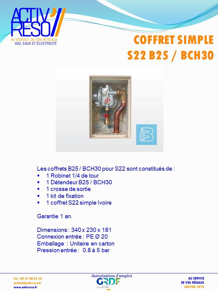 coffret simple S22 B25_BCH30 - activreso