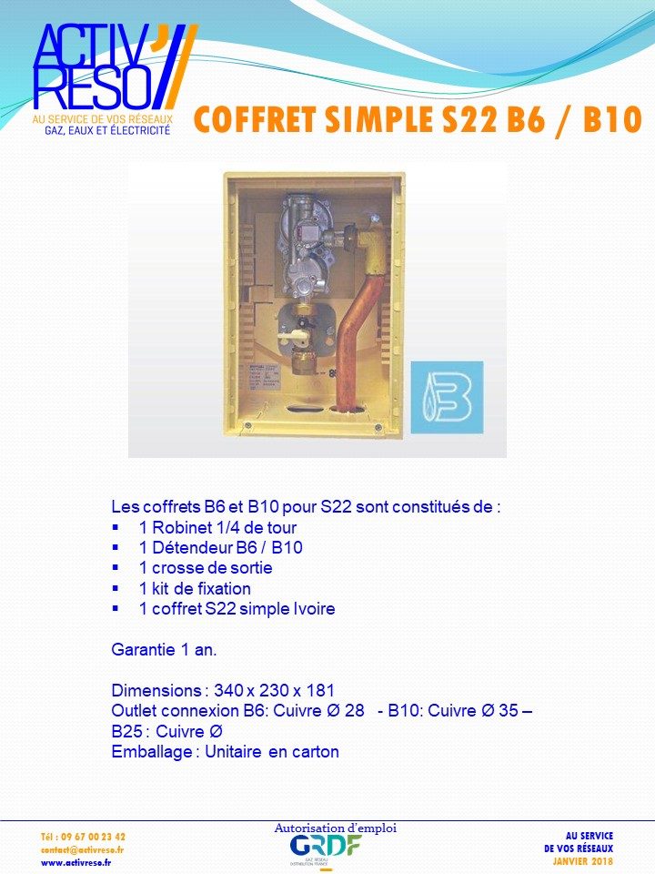 coffret simple S22 B6_B10 - activreso
