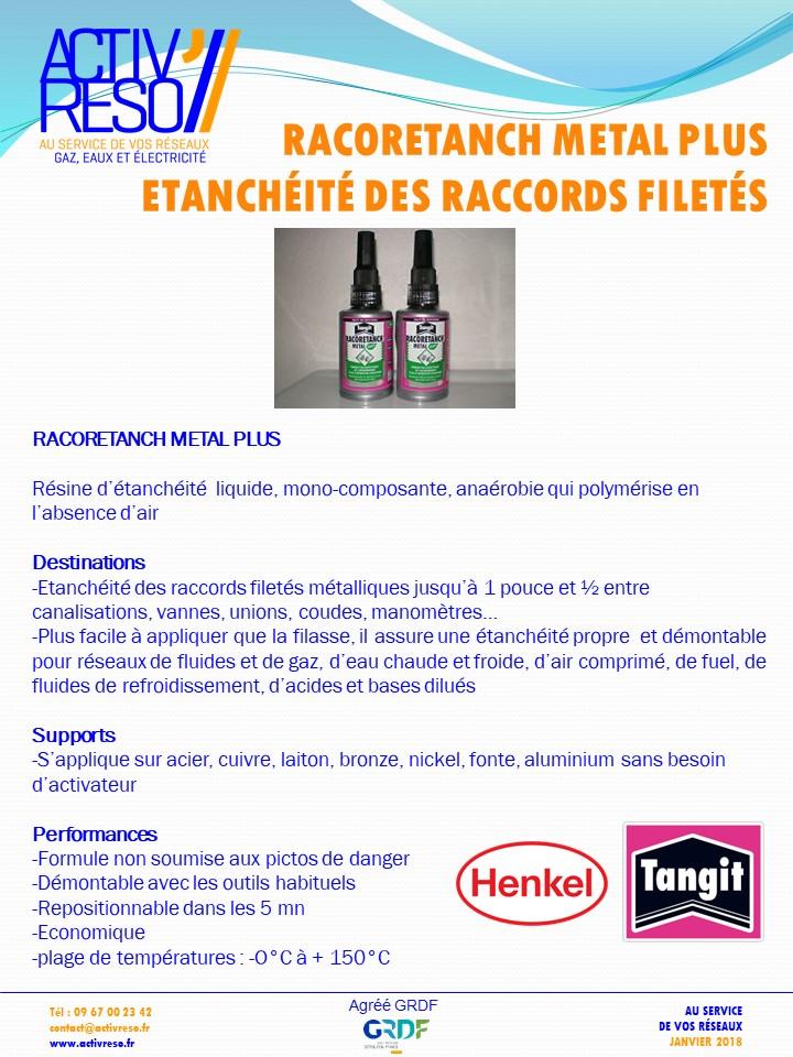 etancheite metal plus - raccords filete - activreso