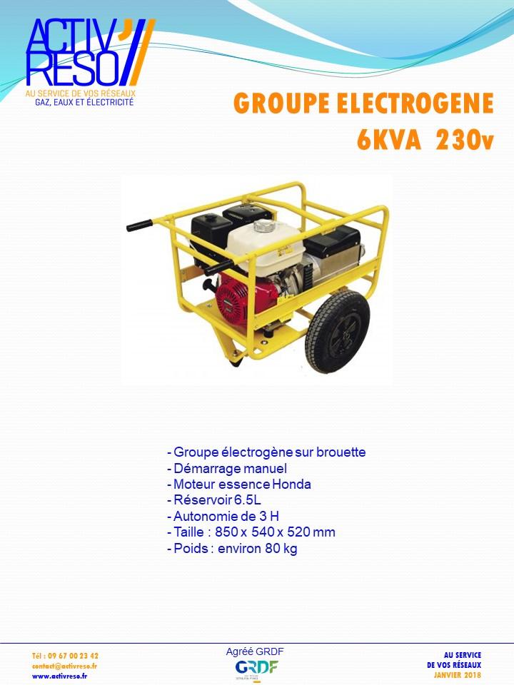 groupe electrogene 6kVA - activreso
