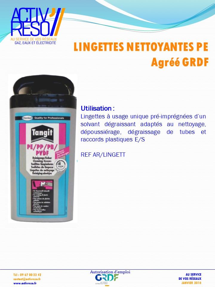 lingettes nettoyantes - activreso