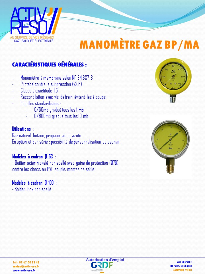 manometre gaz bp - activreso