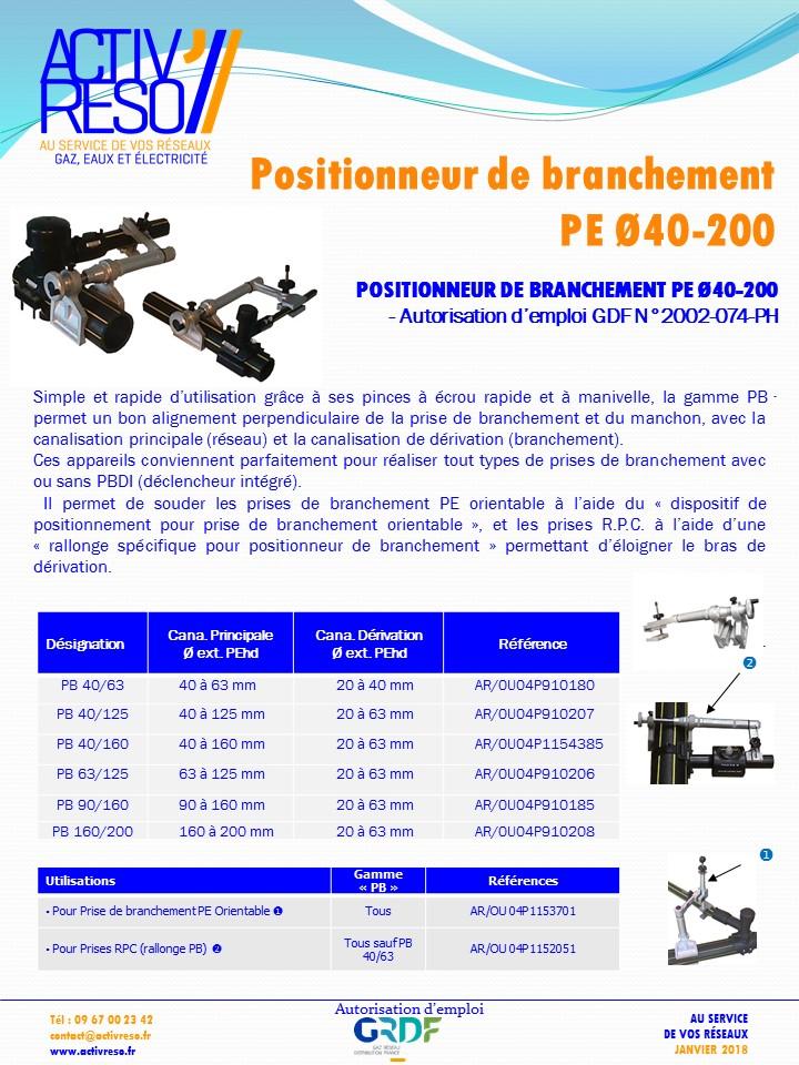 positionneur de branchement Ø40-200 - activreso
