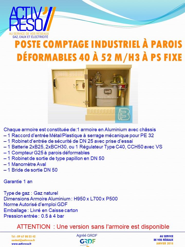 poste de comptage industriel a parois deformables 40_52 M3H a psFix - activreso