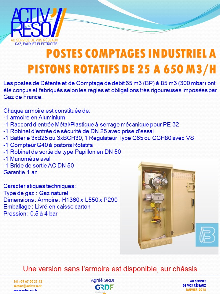 postes comptage industriel a pistons rotatifs -activreso