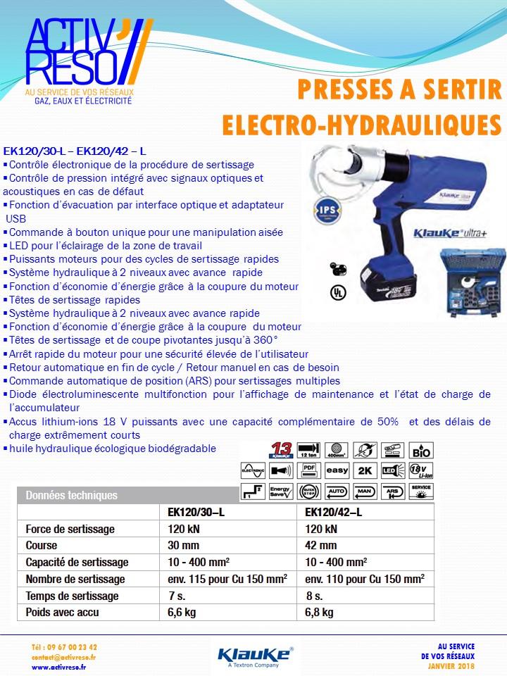 presse a sertir electro-hydraulique - activreso