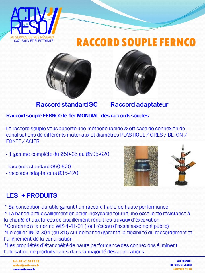 raccords souple FERNCO - activreso