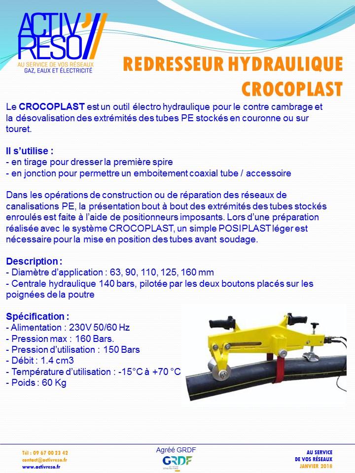 redresseur hydraulique crocoplast - activreso