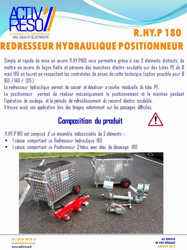 redresseur hydraulique positionneur - activreso
