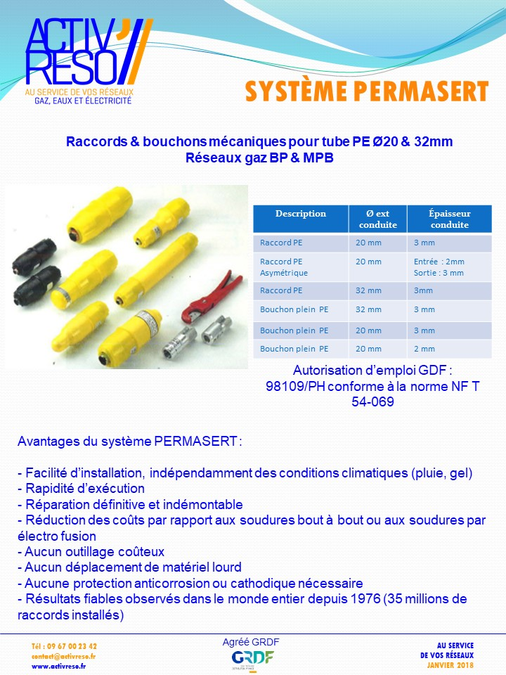 systeme permasert - activreso