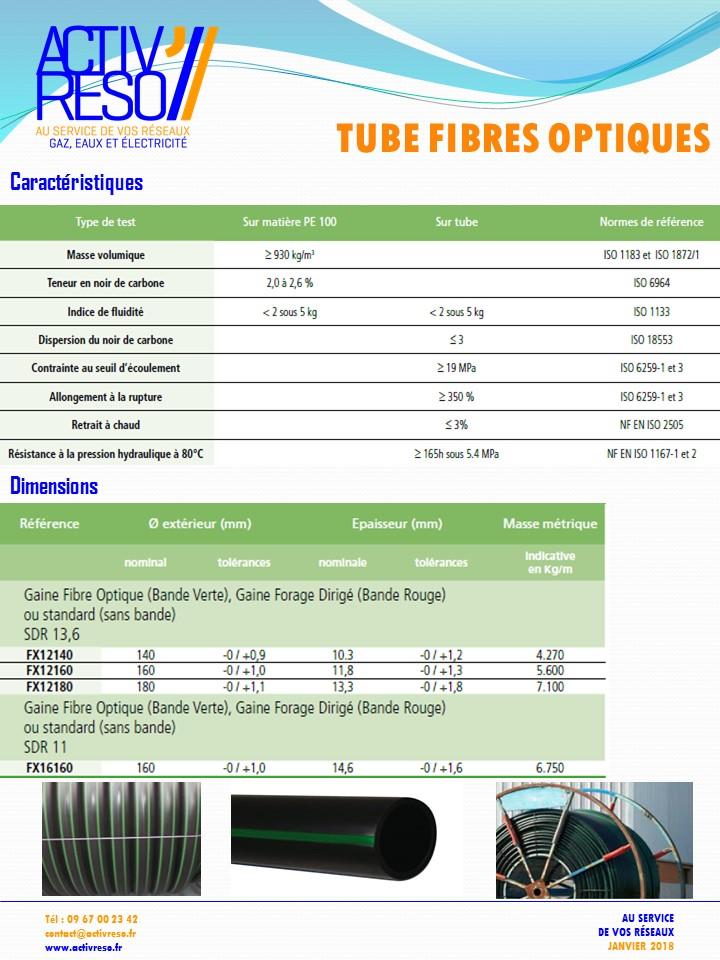 tube fibres optiques pe100 - activreso