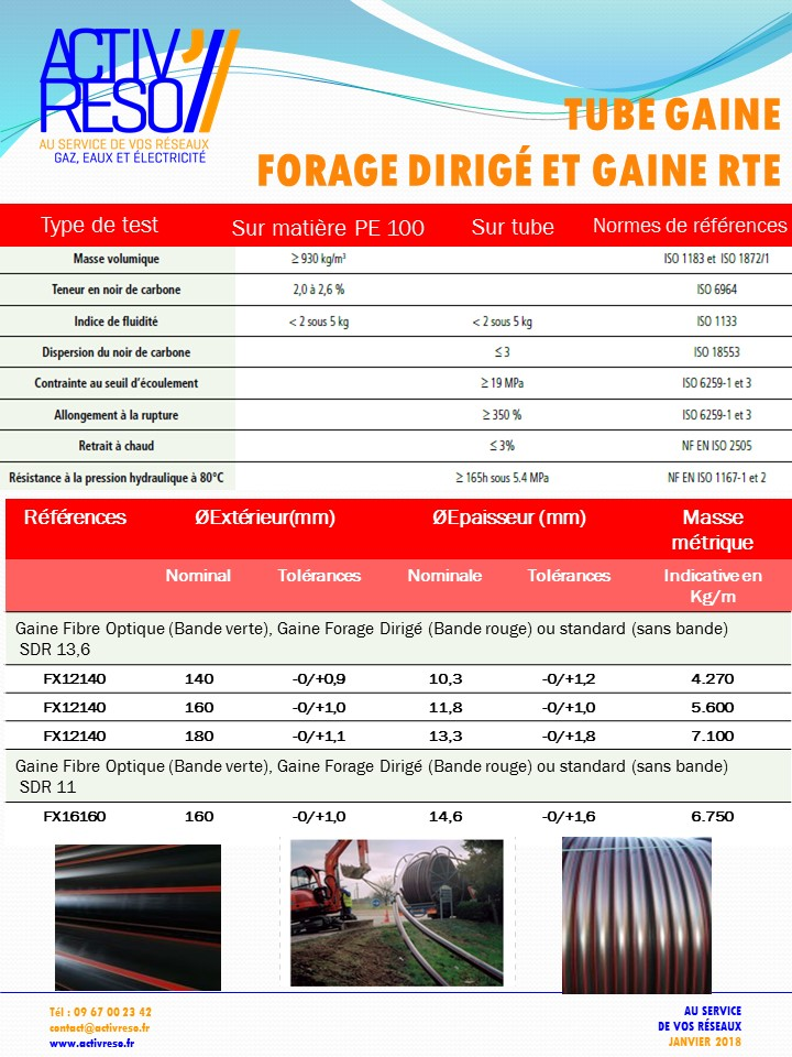 tube gaine forage dirige pe100 - activreso