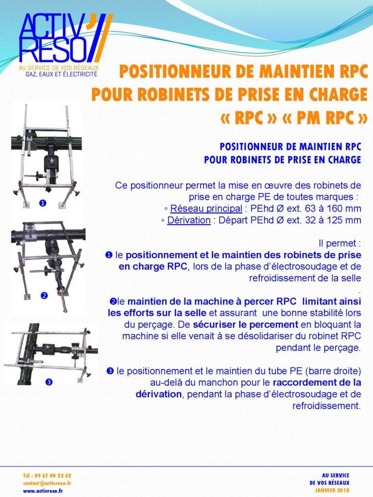 Positionneur de maintien RPC pour prise en charge RPC ET PM RPC- activreso- activreso