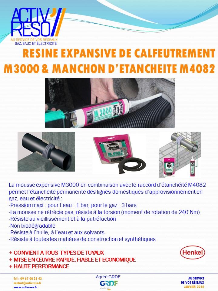 KIT RESINE M3000 calfeutrement & manchonM4082 - activreso