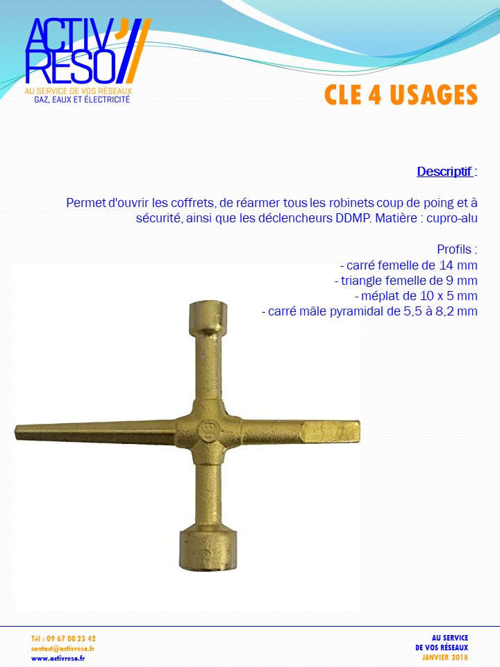cle 4 usages - activreso