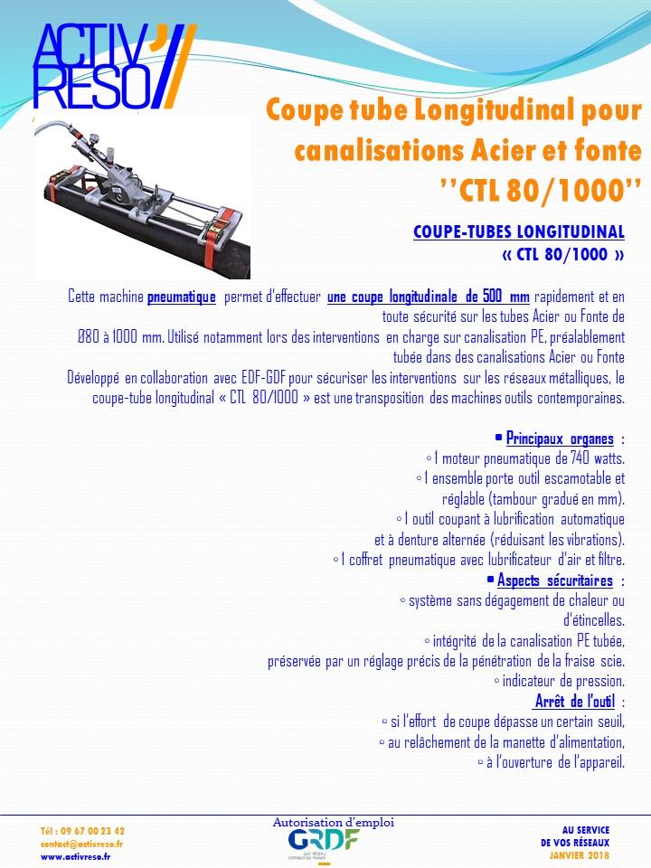 Coupe tube Longitudinal - activreso