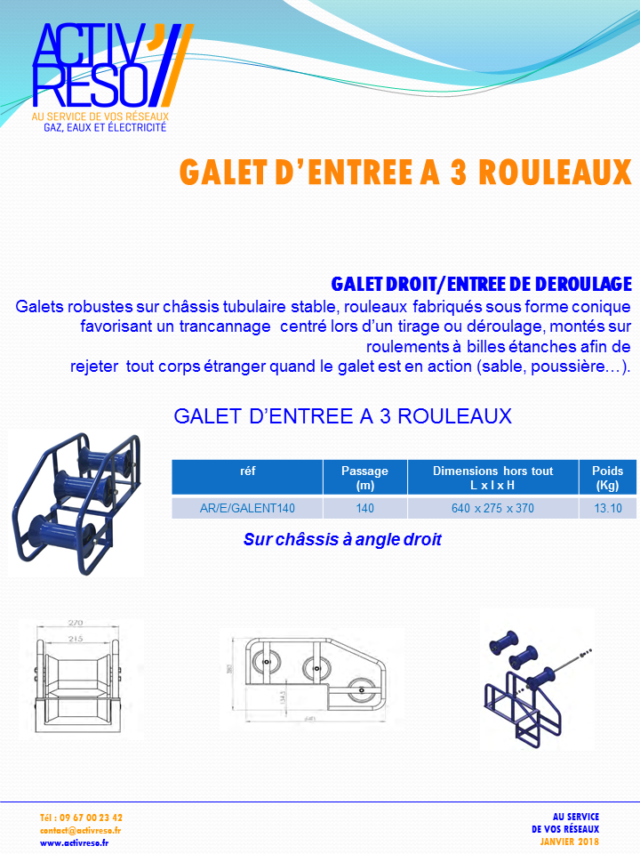 Galet entree 3 rouleaux - activreso