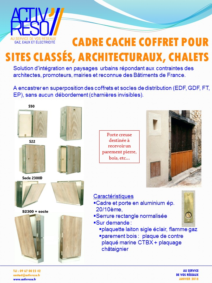 cadre cache coffrets sites classes - activreso