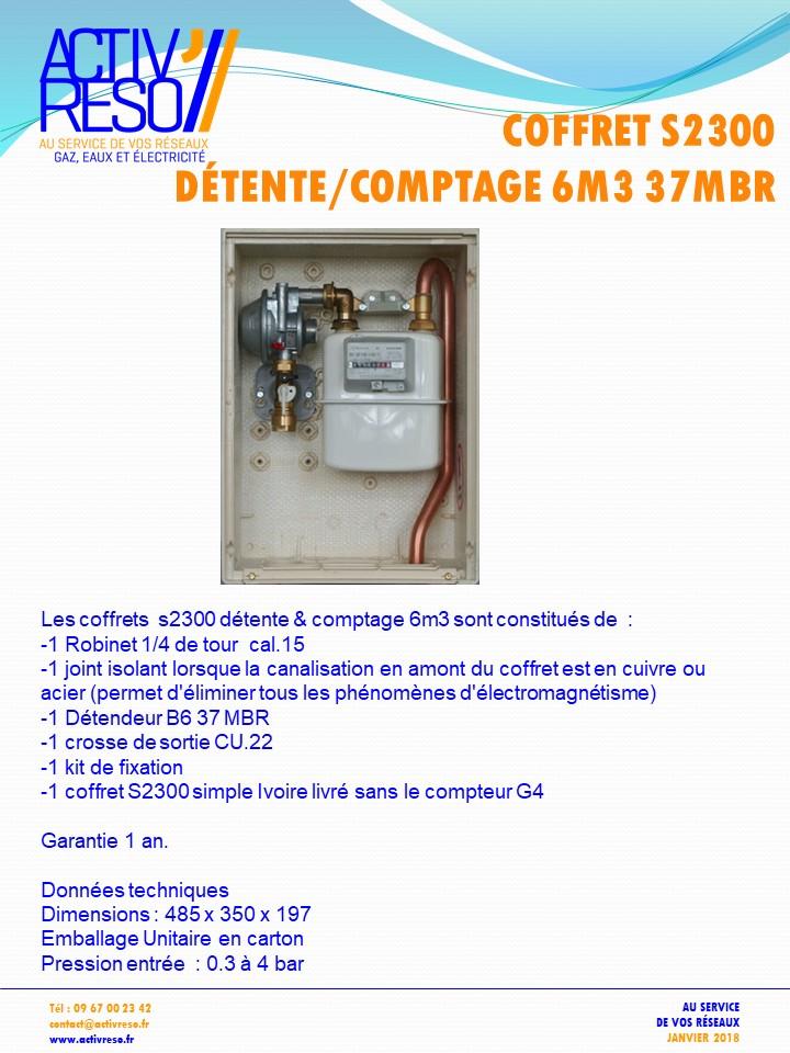 coffret gaz s2300 detente_comptage B6 - 37mbr - activreso