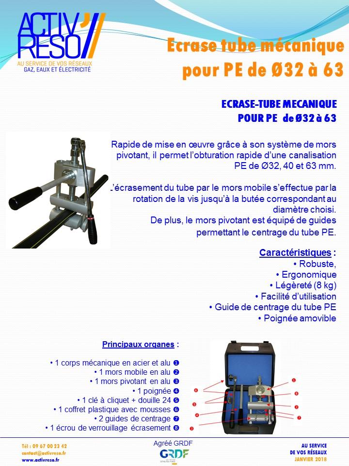 ecrase-tube mecanique PE Ø32-63 activreso