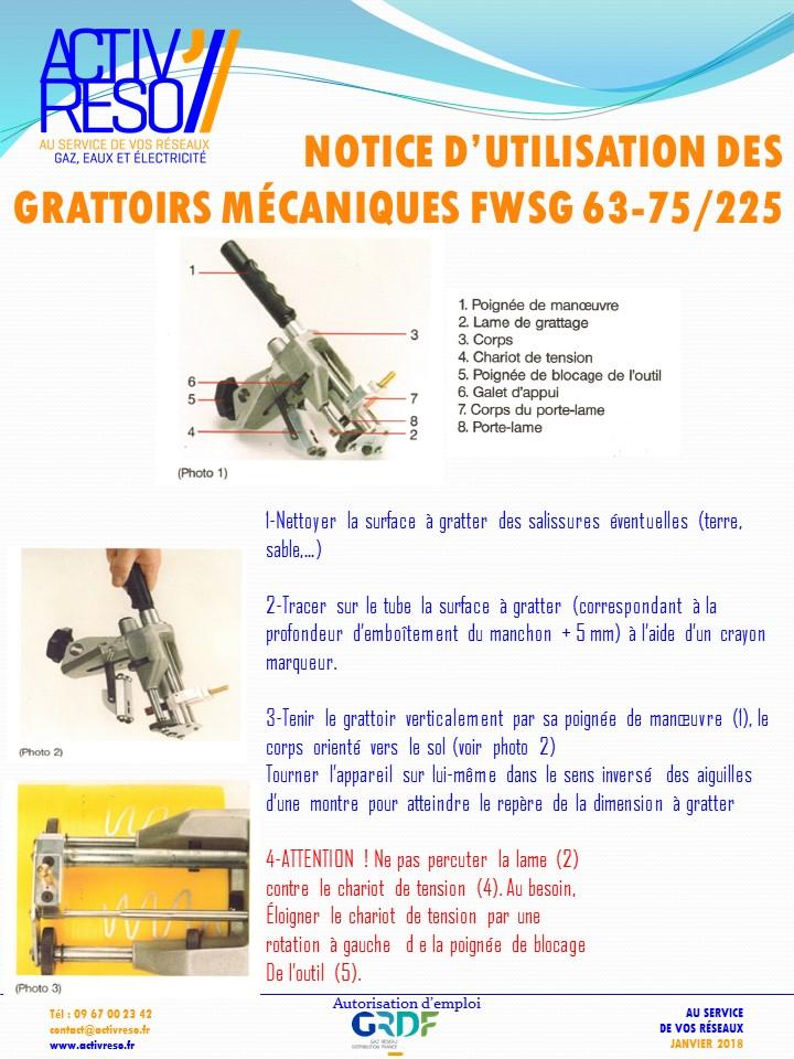 grattoirs mecaniques FWSG 63_75-225 - activreso