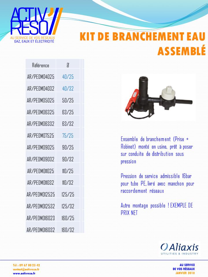 kit de branchement PE eau assemblé - activreso