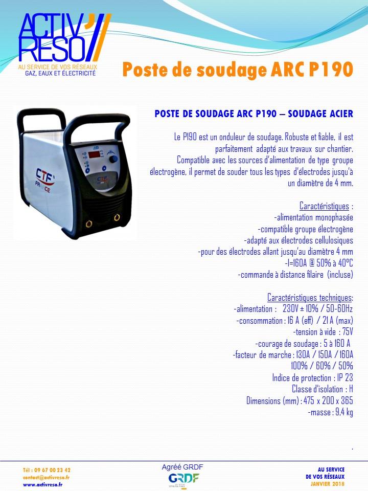 poste de soudage ARC P190 pour acier - activreso
