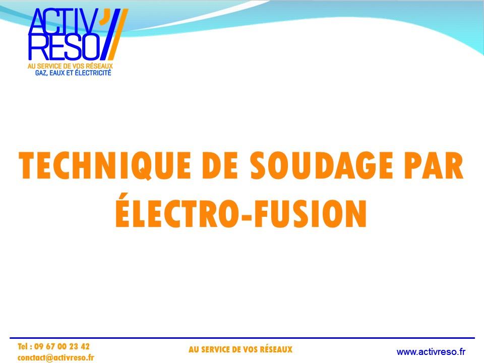 technique de soudage par electro-fusion - activreso 1