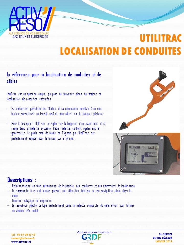 utilitrac localisation de conduites et de cables - activreso