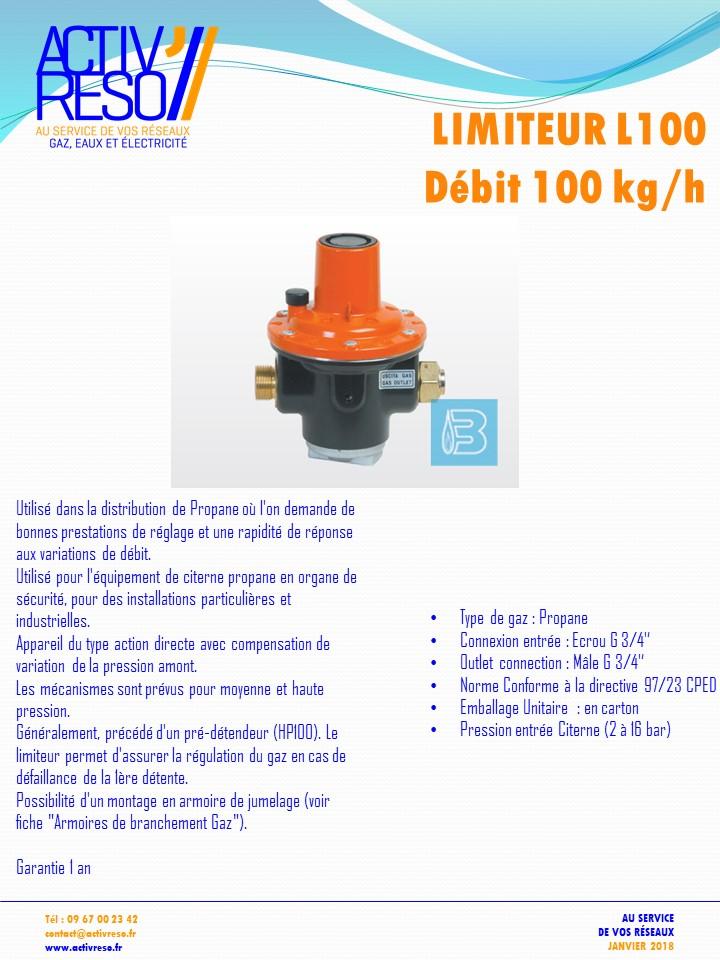 limiteur L100 debit 100kg-h - activreso