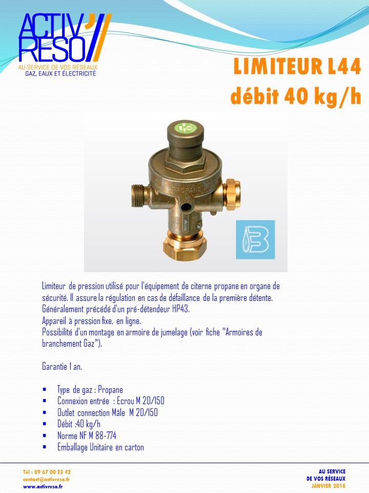 limiteur L44 debit 40kg-h - activreso