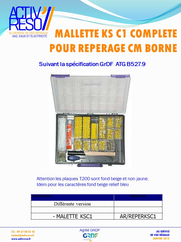 mallette ks c1 complete pour reperage borne cm - activreso