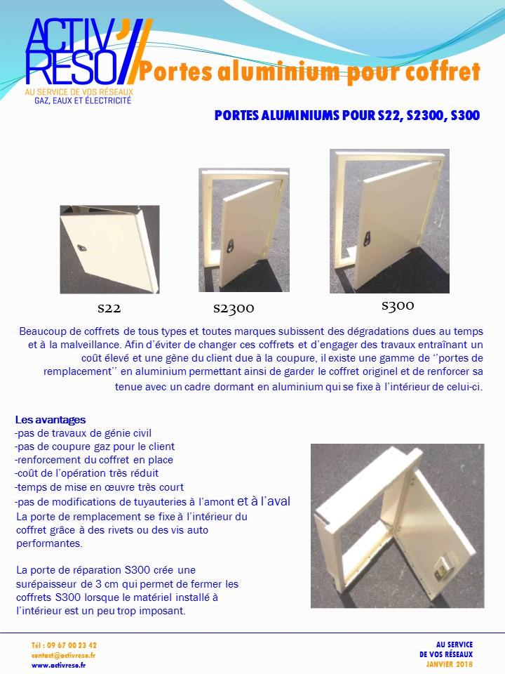 portes aluminium pour coffret s22 s300 et s2300- activreso