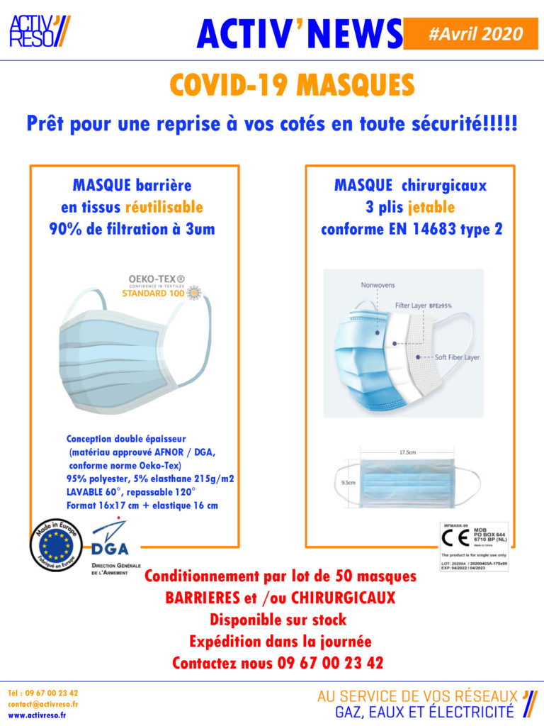 activreso-newsletter-masques-de-protection-avril-2020
